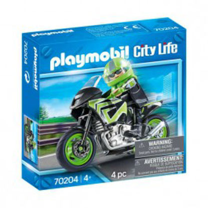 Picture of Playmobil 70204 Pilote Et Moto