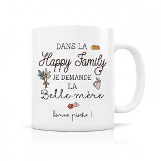 "Picture of Mug ""Happy family Belle mère"""