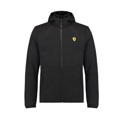 Image de HOODED SOFTSHELL BLACK