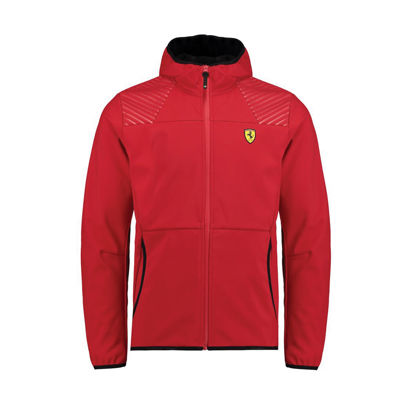 Image de HOODED SOFTSHELL RED