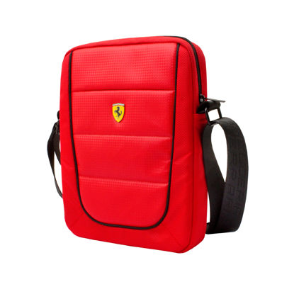 "Image de SHOULDER BAG CARBON 10"" RED"