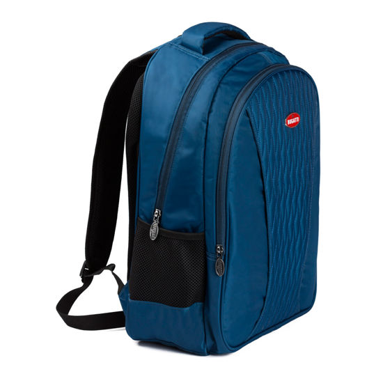 Image de BUGATTI STITCHING BACKPACK BLUE NYLON