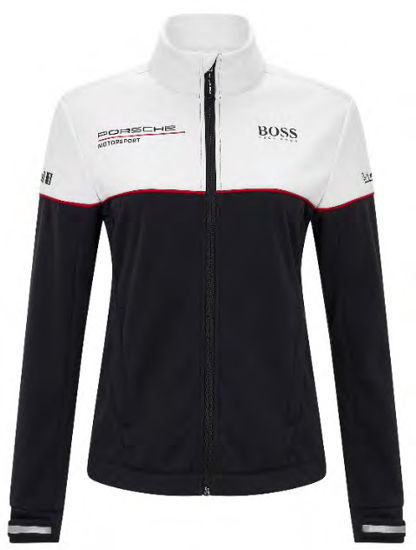 Image de PORSCHE RP WOMENS TEAM SOFTSHELL JACKET BLACK & WHITE