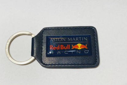 Image de LEATHER KEYRING BLUE