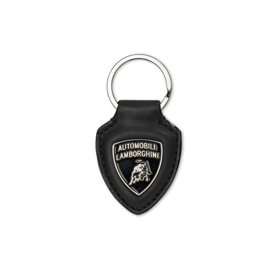 Image de LEATHER KEYRING BLACK