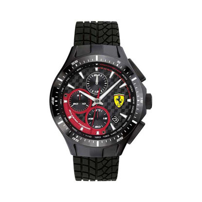 Image de SF RACE DAY 44mm MOUVEMENT CHRONO 5ATM NOIR/ROUGE