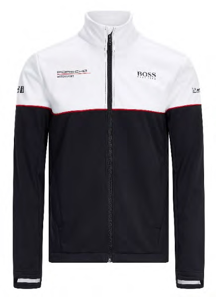 Image de PORSCHE RP MENS TEAM SOFTSHELL JACKET BLACK & WHITE