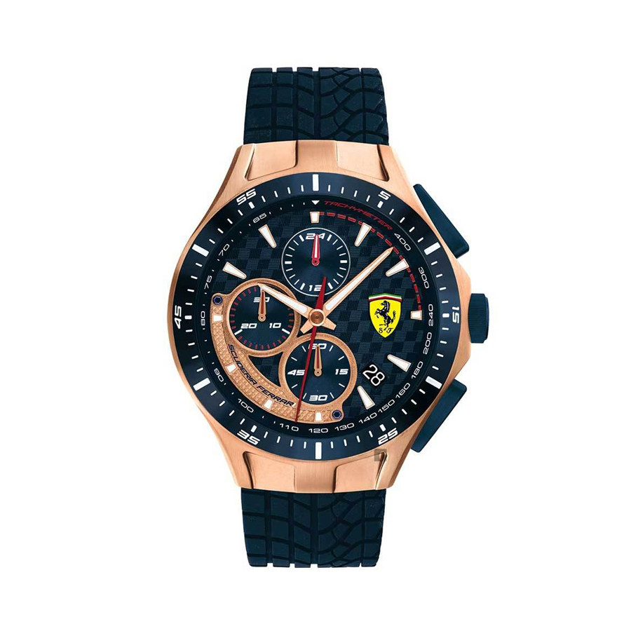 Image de SF RACE DAY 44mm MOUVEMENT CHRONO 5ATM BLEU/OR ROSE